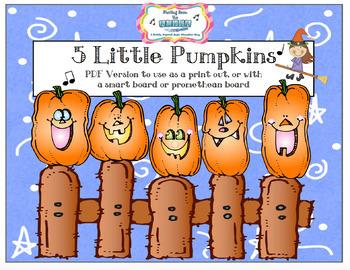 5 Little Pumpkins: Halloween Song and Literacy Pack