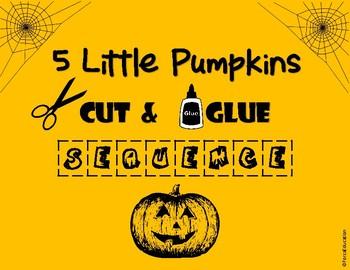 5 Little Pumpkins sequencing worksheet
