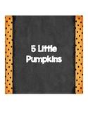 5 Little Pupkins Book-emergent reader