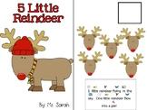 5 Little Reindeer Adapted Book