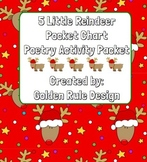 5 Little Reindeer Christmas Pocket Chart Poetry Packet