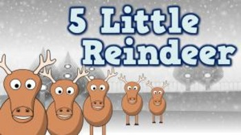 5 Little Reindeer (video)
