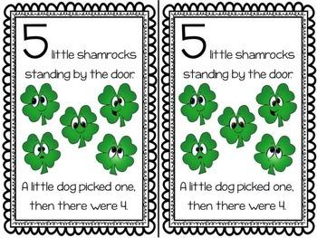 5 Little Shamrocks Emergent Reader & Math Centers