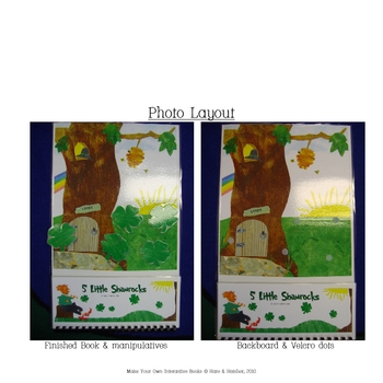5 Little Shamrocks Interactive, Printable Book in Full Color!