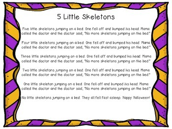 5 Little Skeletons Activities