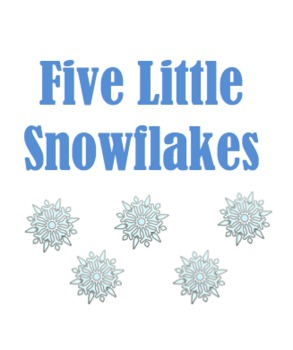 image relating to Snowflakes Printable identified as 5 Very little Snowflakes Printable E-book