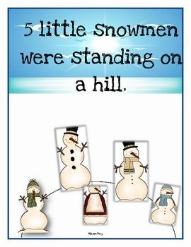 5 Little Snowman Book & Activities