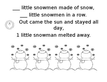 5 Little Snowman Booklet