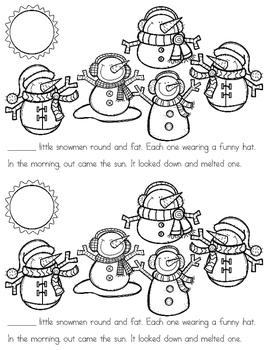 5 Little Snowmen