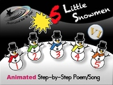 5 Little Snowmen - Animated Step-by-Step Poem - VI