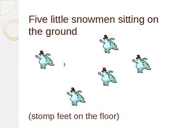 5 Little Snowmen Poem
