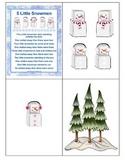 5 Little Snowmen Poem with Poem Pieces