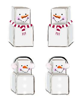 5 Little Snowmen Poem with Poem Pieces