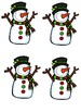 5 Little Snowmen Retelling Pieces