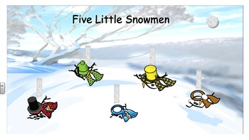 5 Little Snowmen - Vest Display - PCS