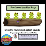 5 Little Speckled Frogs BOOM CARDS