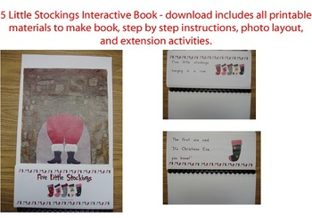 5 Little Stockings Interactive Book - Printables, full color