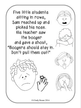Social Stories for Autism: 5 Little Students Picking Their Nose