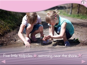 5 Little Tadpoles - Animated Step-by-Step Science Poem - Regular