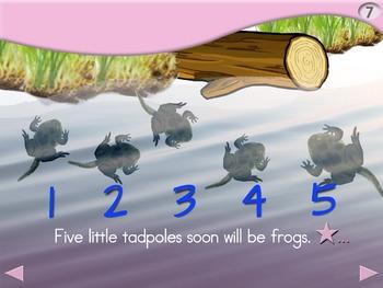 5 Little Tadpoles - Animated Step-by-Step Science Poem - SymbolStix