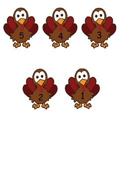 5 Little Turkey's Adapted book with visuals