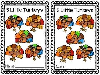 5 Little Turkeys {Thanksgiving}