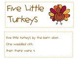 5 Little Turkeys