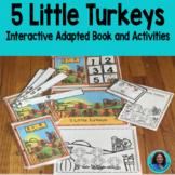 Thanksgiving  5 Little Turkeys books,Interactive, conversation cards