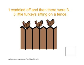 5 Little Turkeys Counting Book