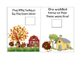 5 Little Turkeys Mini Book