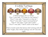5 Little Turkeys Poem and Clipart