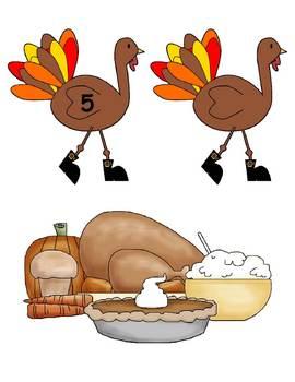 5 Little Turkeys Set 2 / Flannelboard Pieces