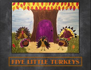 5 Little Turkeys, animated!
