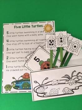 5 Little Turtles Craft Activity