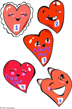 5 Little Valentines Flannel/Magnet Board Activity