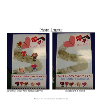 5 Little Valentines Interactive Book, Printable in Full Color!