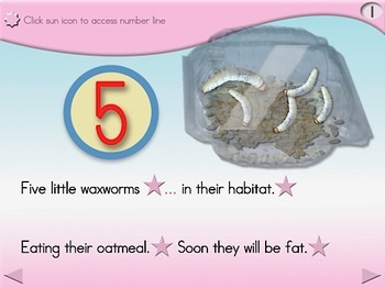 5 Little Waxworms - Animated Step-by-Step Poem - Regular