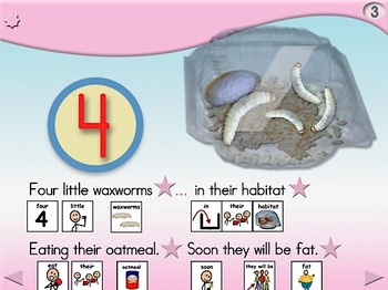 5 Little Waxworms - Animated Step-by-Step Poem - SymbolStix