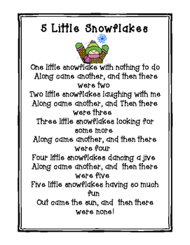 5 Little snowflakes