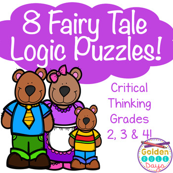 Fairy Tale Themed 8 Logic Puzzles For Beginners - Critical Thinking Skills