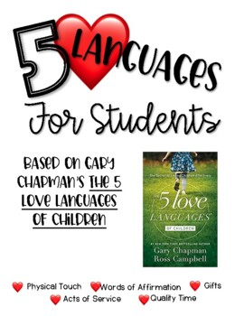 5 Love Languages For Students By Shining The Light In Fifth Grade