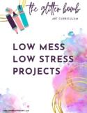 5 Low Mess, Low Stress Art Lesson Bundle