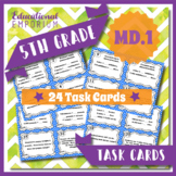5.MD.1 Task Cards ⭐ Measurement Conversions Centers
