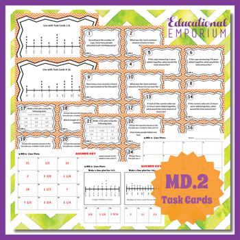 5.MD.2 Task Cards: Line Plots Task Cards 5.MD.2 Centers for Line Plots