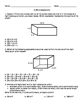 5.MD.5 Assessment