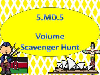 5.MD.5 Scavenger Hunt Word Problems