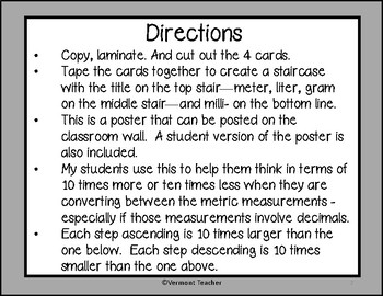 5.MD.A.1- Metric Conversion Staircase - gray background