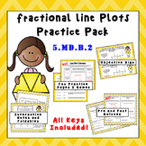 5.MD.B.2 - Fractional Line Plot Practice Pack