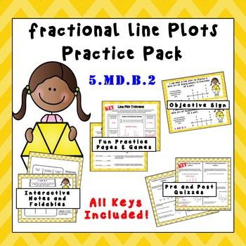 5.MD.B.2 - Fractional Line Plot Practice Pack