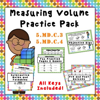5.MD.C.3 & 5.MD.C.4  Measuring Volume Practice Pack